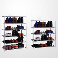 Metal Adjustable Shoes Shelf Storage Rack Stand Household Organizer Boot Storage Holder Houseware Home Practical Tools 2-7 Tiers