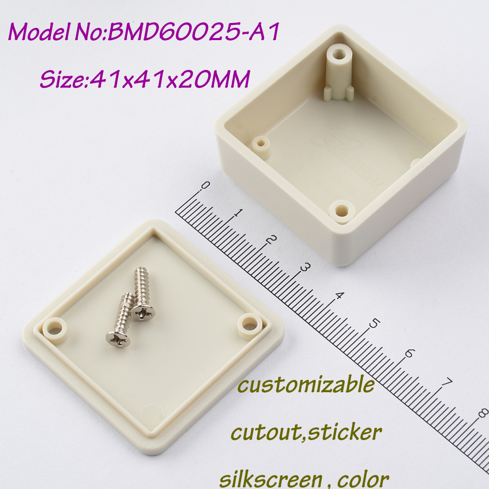 10pieces free shipping 41x41x20 mm plastic box project abs electronics enclosures junction box plastic battery enclosure