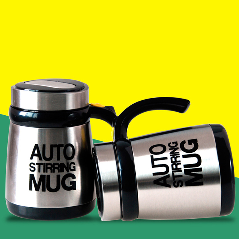 New Style Automatic Mixer Coffee Milk Mug With Handle <font><b>Lip</b></font> Stainless Steel Coffee Tea <font><b>Cup</b></font> Self Stirring Mug Great Gifts New Year
