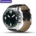 Mtk6580 femperna y3 android 5.1 os smart watch phone 512 mb + 8 gb bluetooth inteligente relógio de pulso apoio cartão sim 3g wi-fi gps
