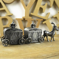 Newborn Baby Family Gift First Tooth And First Curl Boxes Metal Artcraft Trinket Box Vintage Horse