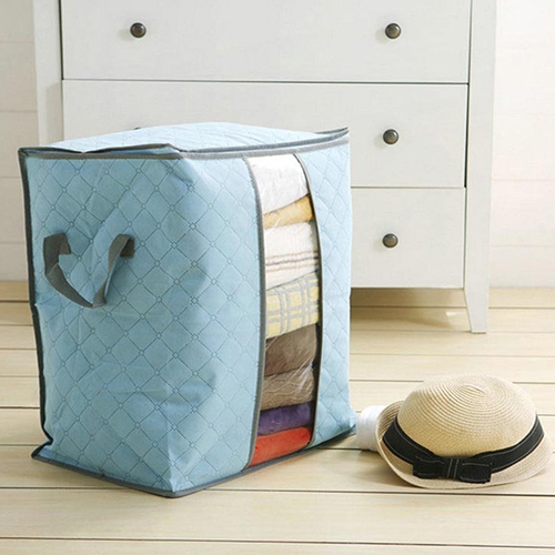 Hot Foldable Compact Clothing Quilt Storage Bag Case Blanket Closet Sweater Organizer Box Store 243