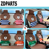 ZDPARTS Cartoon Car Seat Cushion Covers Warm Family Team For Volkswagen VW Golf 4 5 7