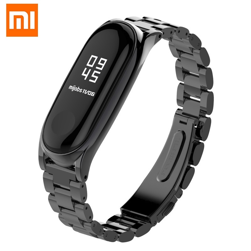 Xiaomi Mi Band 3 Wristband Strap Heart Rate Monitor Bracelet MiBand Band 3 Metal Stainless Steel Miband 3 Fitness Waterproof