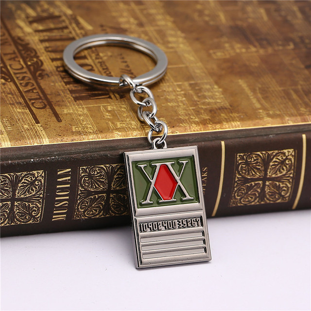 New 2018 Game Jewelry HUNTER x HUNTER Keychain GON FREECSS License Pendant Key Ring Holder For Women Men Jewelry Christmas Gifts