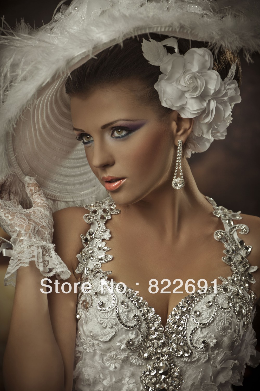 Luxury Mermaid Wedding Dress Halter Shiny Crystal Pearl Top Fancy Handmade Flower Decoration Off Shoulder Custom Gown In Dresses From
