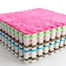 30*30cm stitching EVA foam pad hairy living room bedroom children's room soft carpet baby crawling tatami magic Puzzle Floor Mat