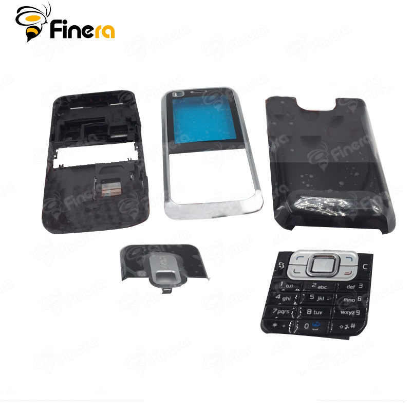 huge discount ee8ca 6d1e6 US $4.85 19% OFF|Front Middle Frame Back cover Battery Cover For Nokia  6120C 6120 Full Housing Cover Case With English Keypad -in Mobile Phone ...