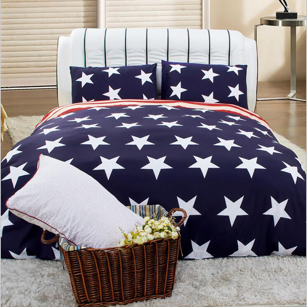 3D Galaxy bedding sets Twin/Queen Size Universe USA Flag ...