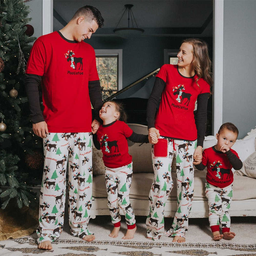 8277226bb Detail Feedback Questions about Family Look Christmas Pajamas Set Xmas Mum  Dad Kid Baby Cotton Sleepwear Nightwear Homewear Family Matching Pjs Red on  ...