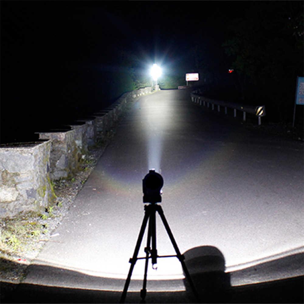 Linterna LED XM-L T6 de 8000 LM, potente linterna recargable para 18650/AAA batería para Camping caza z90