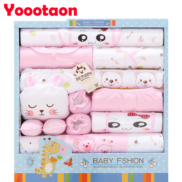 Pure cotton 18pcs/set Spring autumn Baby Clothing for newborn baby girl clothes boy clothes Sets for baby born gift