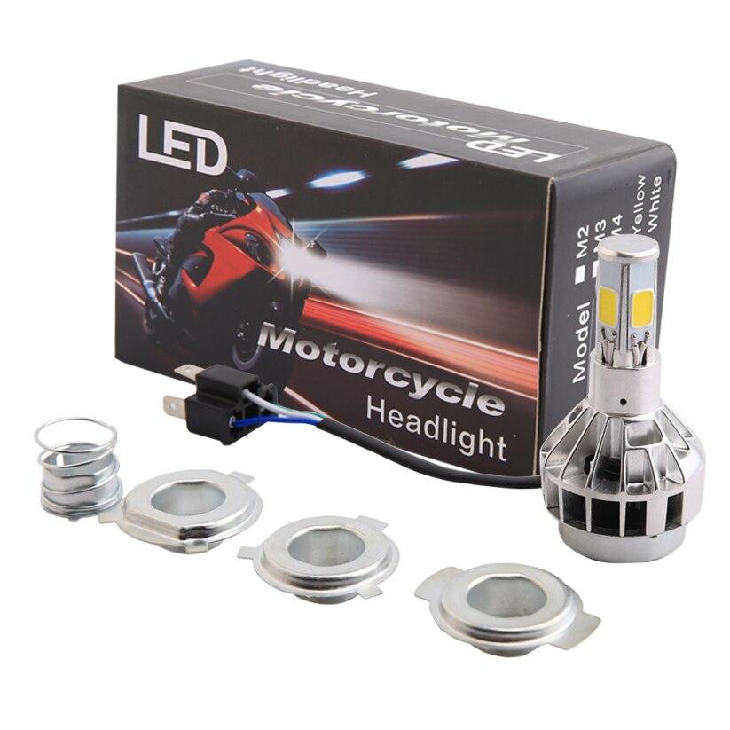 buy hs1 h4 led motorcycle headlight bulbs motorbike light fog lights fit harley. Black Bedroom Furniture Sets. Home Design Ideas