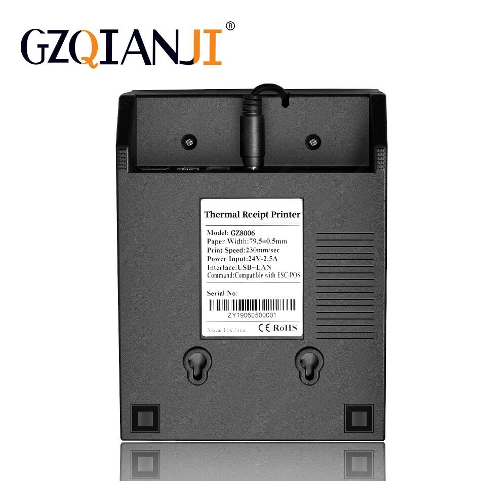80 millimetri termica per Ricevute POS Bill stampante Bluetooth Wifi USB Porta della cucina POS Stampante con Taglierina Automatica Per Il sistema pos latte negozio di tè - 4