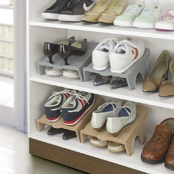 De espessura Dupla Sapateiras Modernos Sapatos Rack De Sala De Armazenamento Conveniente de Limpeza de sapatos caixa de Sapatos Organizador Suporte Prateleira