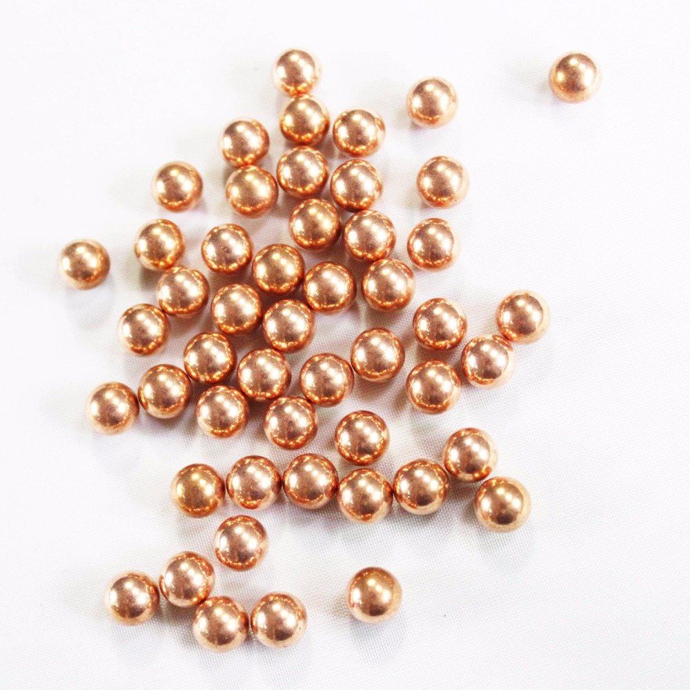 50PCS Copper Plated Carbon Steel Ball for Bearing, Slingshot Hunting, Ammo Ball, 4mm Torlerance +-0.02mm(China)