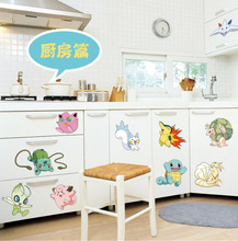 Popular Game Pokemon Go Wall Stickers for Kids Rooms Cartoon Pikachu Decal Art Mural Nursery Room Decor Gift