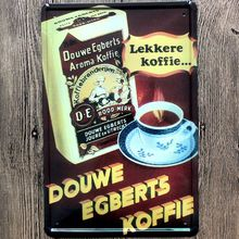 Coffee Sign  Tin Signs Plaque Metal Vintage Wall Bar Home Art Restaurant Decoration Iron Poster Cuadros DU-8063
