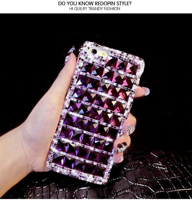 Me dote Que Bling Caso De Diamante Roxo Para iPhone X 8 7 6 6 S Plus 5 SE 5C 4S Samsung Galaxy Note 8 5 4 3 2 Borda Mais S5 S6 S7 S8/4/3