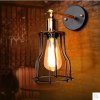 60W Loft Retro Lamp Edison Vintag Wall Lamp Light For Home Industrial Wall Sconce American Style,