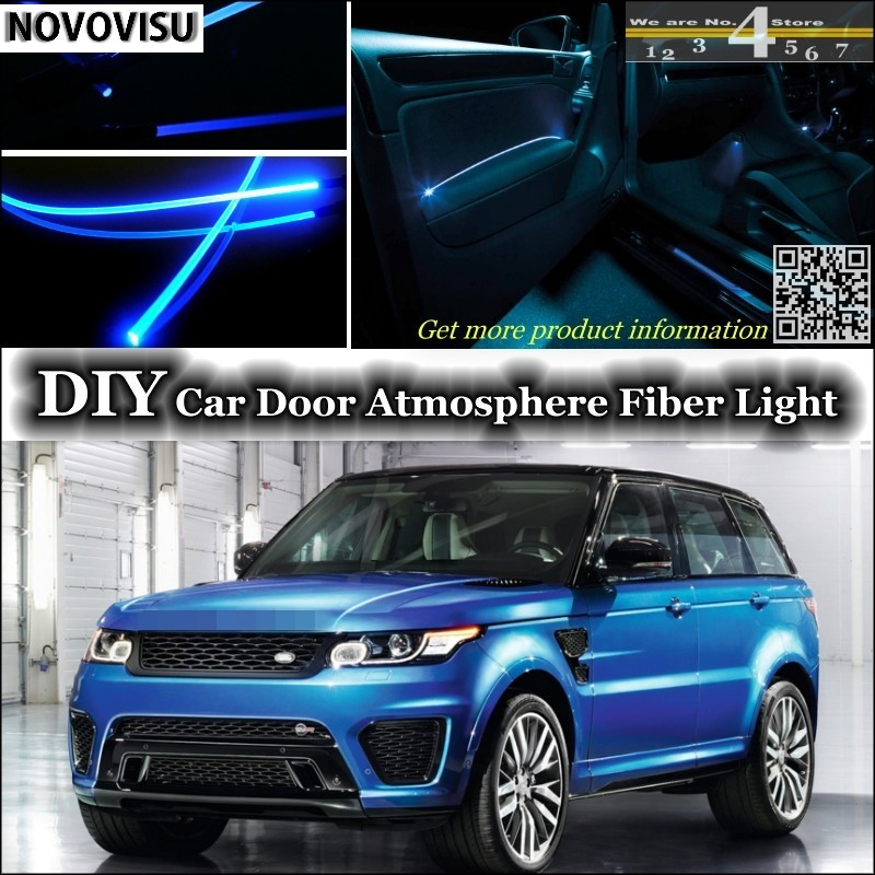 NOVOVISU For Land For Land For Range For Rover  RR Sport interior Ambient Light Atmosphere Fiber Optic Band Lights Door Panel