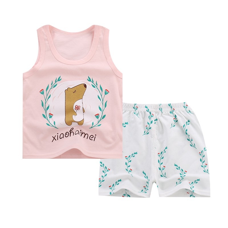 2018 new Baby Boys Girls Clothing Cotton Sets Tracksuit For Boys Kids Top Suits T shirt + Pants Boutique Short Baby Clothes Set