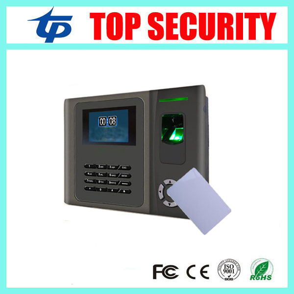 Free shipping biometric fingerprint time attendance time clock TCP/IP finger door access control system with MF card reader free shipping tcp ip fingerprint time attendance a c010t