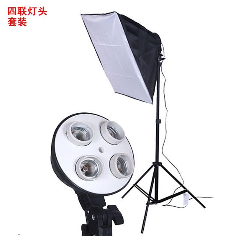 Foto Studio Verlichting Lit 50 Cm 70 Cm Softbox Kit Film Maken Video Houder Light Box 4in1 Light Stand Cd50