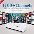 Assinatura IPTV inteligente Android TV Box com 1 Ano Grátis Qhdtv Árabe Francês Itália Europa Alemanha Canais Europa Set Top caixa