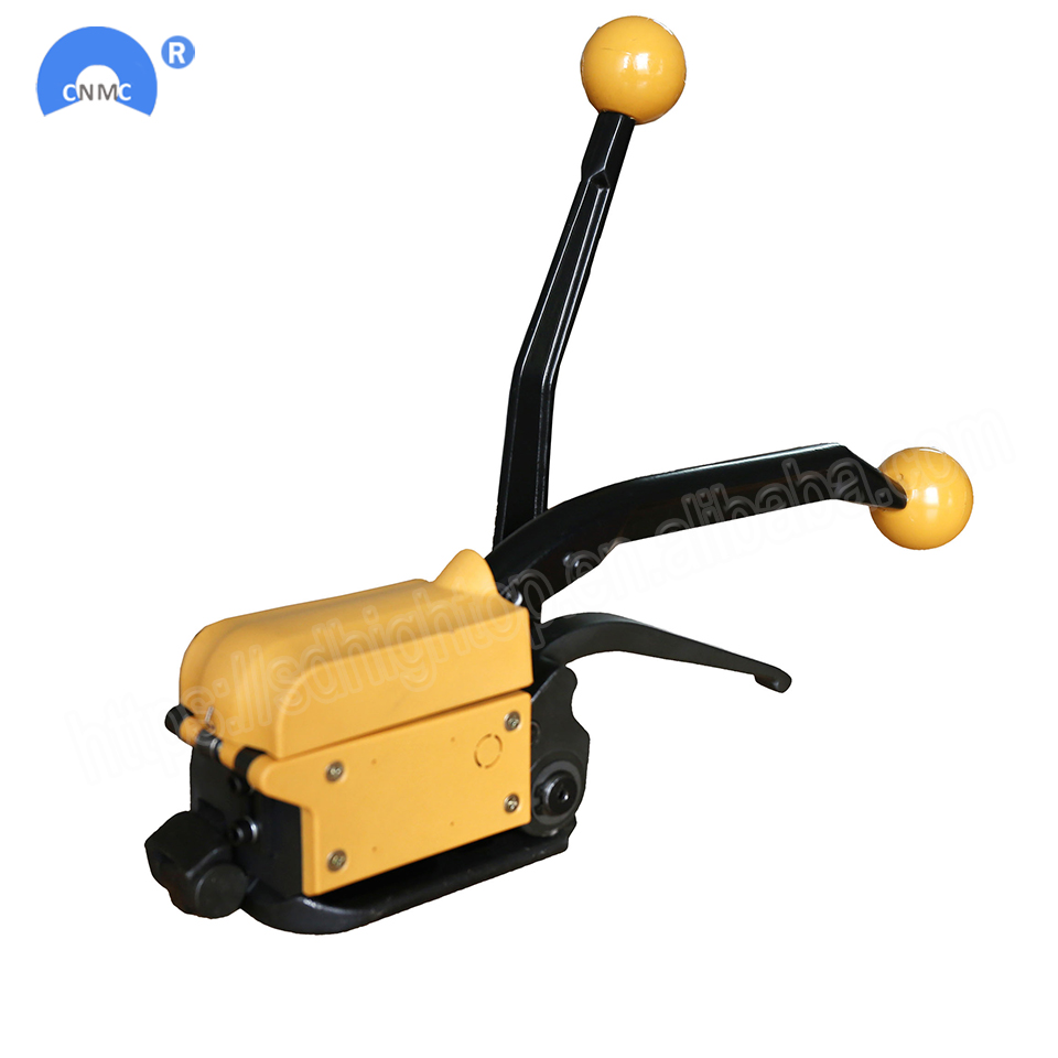 Manual steel strapping tool A333 buckle free Sealless Handheld steel strapping machine for 13/16/19 mm steel strip strapWrapping Machines   -