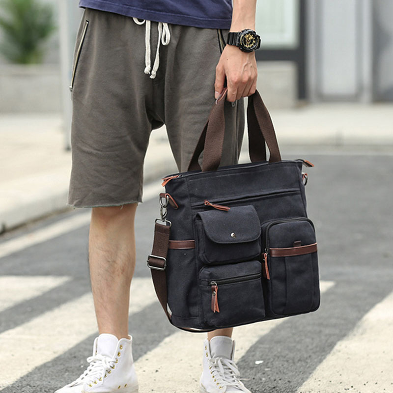 Cross Body Laptop School Work Bag Fish Waves Messenger Bag