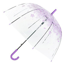 Fashion Transparent Parapluie Creative Women Rain Sun Umbrella Long Handle Cherry Blossom Mushroom Princess Romantic Umbrella(China)