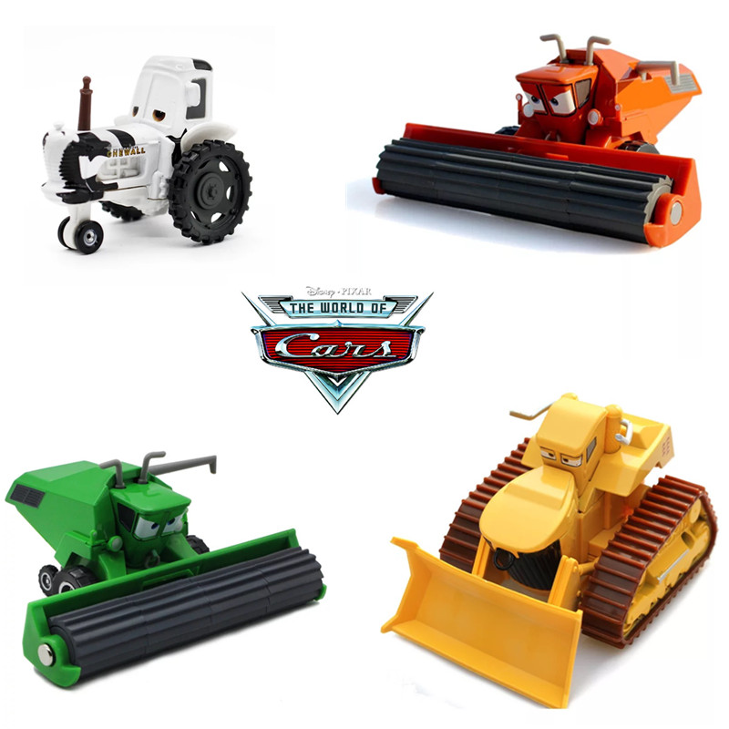 Cars Disney Pixar Cars 2 Cars 3 Miss Fritter  Chuy El Materdor  Frank And Tractor Combine Harvester Bulldozer Modle Car Toy Gift