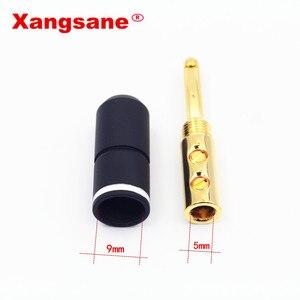 Image 5 - Xangsane 4 pièces haute Performance pur rouge cuivre plaqué or banane serrure prise HiFi haut parleur banane connecteurs