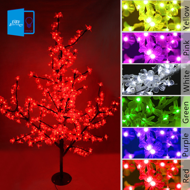 De noël LED Cherry Blossom Arbre Lumière 0.8 M 1.2 M Arbre Lumières Fée Lumières Paysage Éclairage Extérieur pour les Vacances De Mariage déco