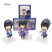 3pcs/set Nendoroid Naruto Shippuden Sasuke figure Uchiha Sasuke PVC Action Figure Collectible Model Toy 10cm KT4171