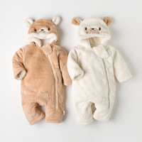 new winter baby climbing clothes, children's thick lambs outfits, body clothes, baby clothes, cotton clothes