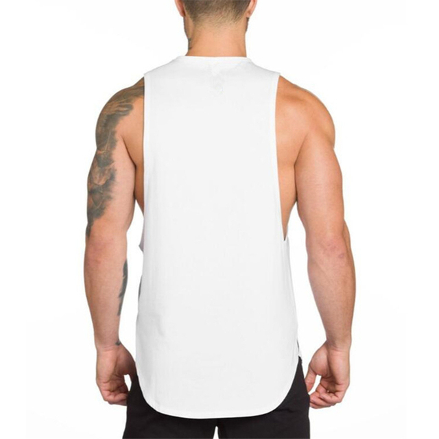 Brand Gyms Stringer Clothing Bodybuilding Tank Top Men Fitness Singlet Sleeveless Shirt Solid Cotton Muscle Vest Undershirt 2