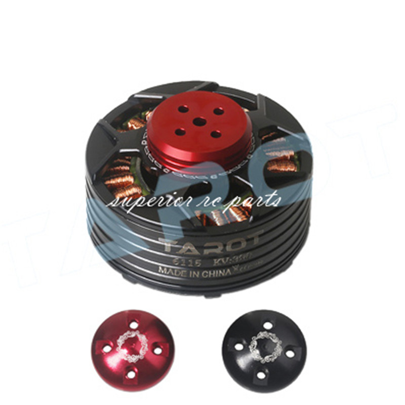 TAROT 6115 320KV Self-locking Brushless Motor TL4X005 CW with Red Cover TL4X003 CCW Black for Multicopter image