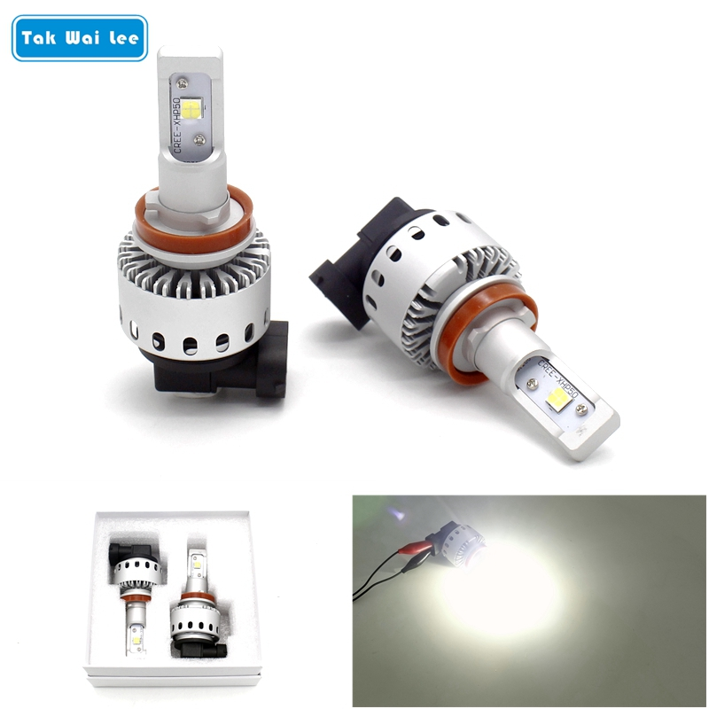 Tak Wai Lee 2X 40W 8000LM 7S LED Car Headlight Styling Source XHP Chip Bulb H7 H8 H9 H10 9005 9006 Car Head Front Fog Light Beam tak wai lee 1pcs usb led mini wireless car styling interior light kit car styling source decoration atmosphere lighting 5 colors