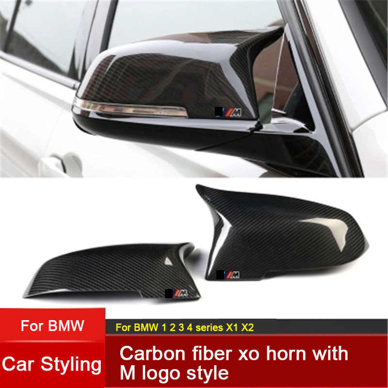 fad979e58e87 Replacement Carbon Fiber Mirror Covers Caps Shell for BMW 1 2 3 4 series M  series