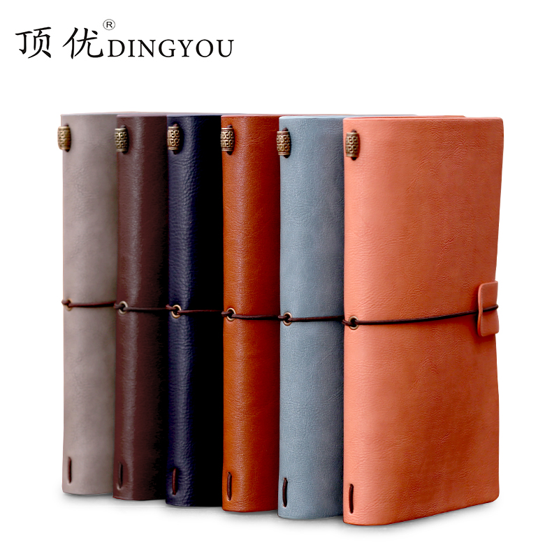 Special Offer DINGYOU Travel Notebook Vintage Notebook Diary Leather Strap Notebook A6 1PCS lenwa classic van gogh series notebook a6 vintage business carry small portable notebook 1pcs
