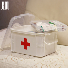 Extra large  medicine box multi-layer storage boxes in the first aid health care household plastic pyxides nes multi functional plastic storage household children s medicine multi layer first aid portable medicine box