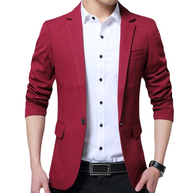 YUNCLOS EU Size New Men's Blazer Casual Slim Fit Jackets Solid Color Business Wedding Party Men Blazer Jackets blazer masculino