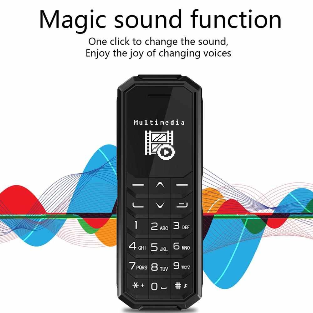 Aeku KK2 Terkecil Ponsel Bluetooth Dialer Wireless Headphone Telepon Magic Vioce Perubahan Mini Mobile Phone PK BM50 BM70 KK1