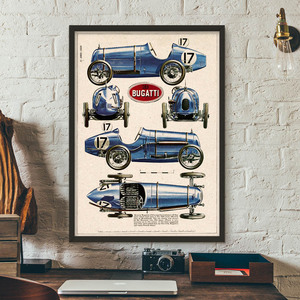 Wall Art Canvas Painting Classical Racing Champion Car Bugatti Nordic Posters And Prints Wall Pictures For Living Room Decor
