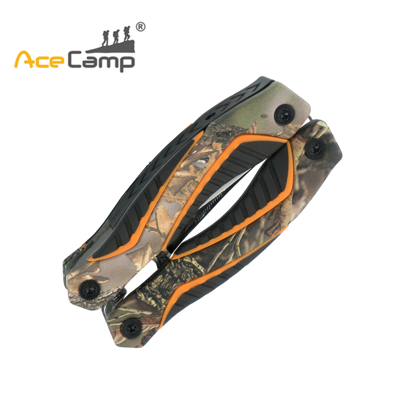 AceCamp Camo Multi Tools Pocket Knife Screwdriver Set Kit Survival Hand Mini Scissors Camping Fishing Combine Tools multi tool outdoor survival knife 7 in 1 pocket multi function tools set mini foldaway plers knife screwdriver