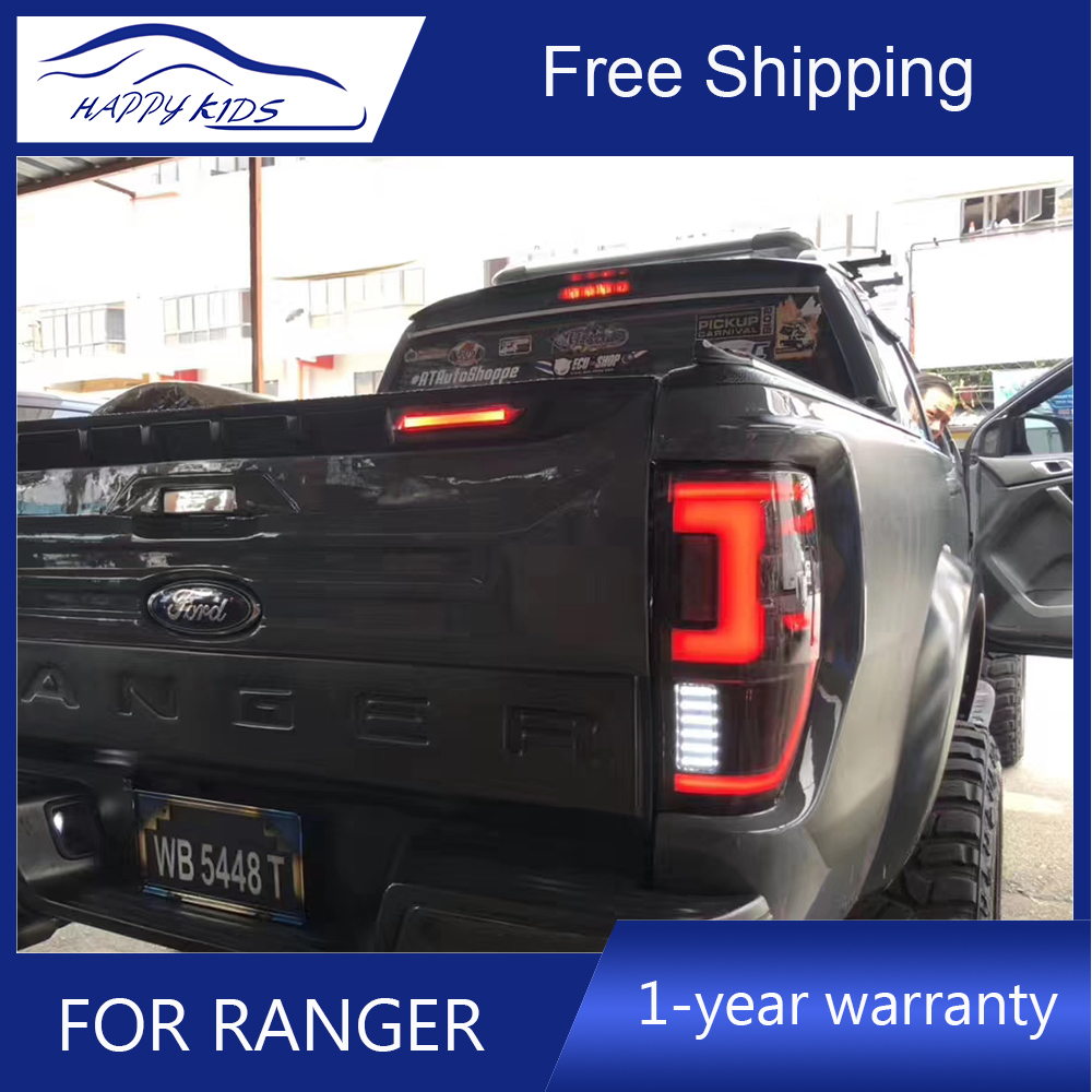 Free ship by Ems High Quality Led Tail lights For Ford Ranger T7 Tail Light Fog