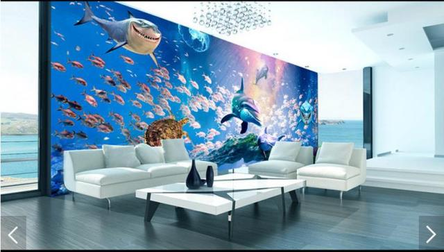 3d Photo Wallpaper Custom 3d Wall Murals Wallpaper The Bottom Of The Sea  Fish Figure 3 Part 72
