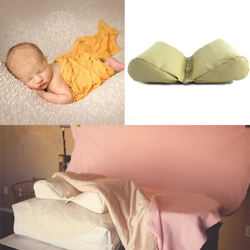 Accesorios de fotografía de cuero PU para recién nacido, almohada en forma de cuña para bicicleta, apoyo para fotografía de bebé, cesta de fondo, Atrezzo, 3 colores